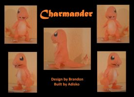 Paper Pokemon Charmander by Adisko