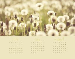 Calendar for summer 2012 by Gulfiya