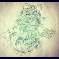 Female Owl Complementary Design by underlineage-designs