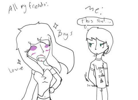 Me vs My Friends by MyLifeIsSin