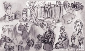Sketches August 2011 by EpicSteve