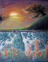 pastel_Sunset and Garden - detail by cracked139