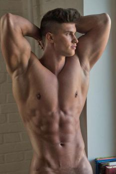 Nude Young Stud by builtbytallsteve