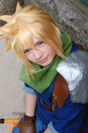 Cloud Strife - Sad smile by Millahwood