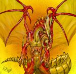 Gold Tail Fire Dragon by ToxicityDragon