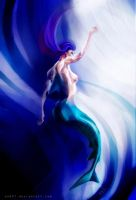 woman-blue shark by and01