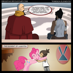 Korra and Pinkie in ''Foreign Elements'' by DiegoTan