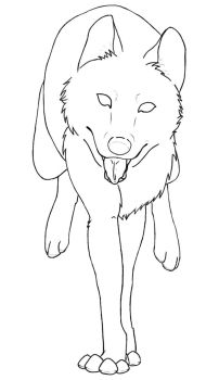 Free Wolf Run Lineart by BehindClosedEyes00