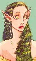 Green Haired Lady by MistyTang