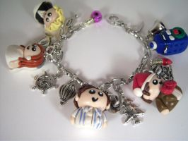 Doctor Who Christmas Charm Bracelet by sweet-geek