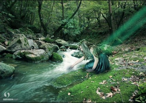 Nymph On The River by Saifuddin-Graphique