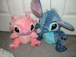 Stitch and Angel by Itachislilgirl
