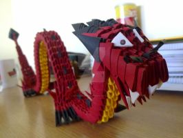 Origami Dragon 1 by KibaPandaRo
