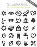 SimpleGreen Icon Set by Kinggreek