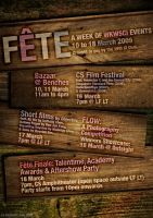 Fete: Event poster. by lizzAy
