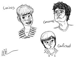 Friend Faces Expression Test by GingerBaribuu