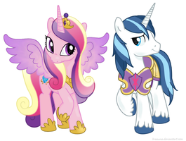 Princess Cadance and Shining Armor by BreAuna