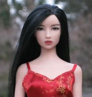 Asian polymer doll face by dollover