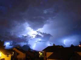 Violent Storm Over Grenoble by SixtyFourWarrior