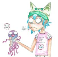 2D and Jellyfish by GoRiLlAz6666