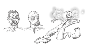 Rubber Gas Masked by Redflare500