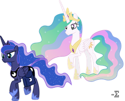 Princess Luna Forsakes Princess Celestia by 90Sigma
