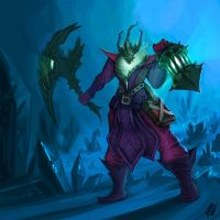 Thresh Fan Art by Brainsause