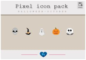 Pixel icon pack Halloween by friabrisa
