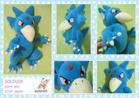 Golduck pokemon plushie by chocoloverx3