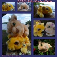 DOLLY Inc Baby Simba And Nala by DoloAndElectrik