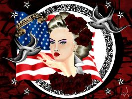 American Pin Up by TaliaJasta