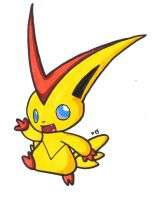V is for Victini by Peeka13
