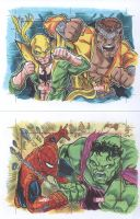 Marvel Greatest Battles Double cards 2 by ElvinHernandez