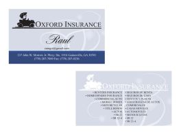 Oxford Insurance BC by JPasquarelli