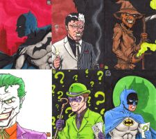 Old Bat-Sketch Cards by WillRipamonti