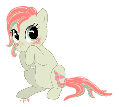 Tentacle pony: Blush by C-Puff