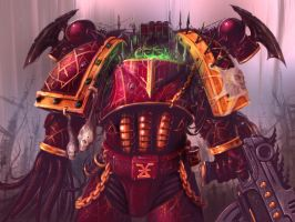 Chaos Marine by psionic