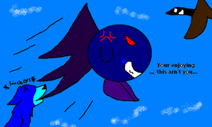 bothering meta knight XD by gdwDOG-wolf99