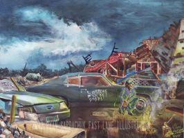 The Life Story Of A 1970 Chevy Chevelle (Part 25) by FastLaneIllustration