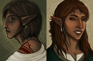 a pair of portraits by sycamorre