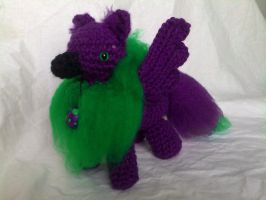 Purple and Green Gryphon by hollyann