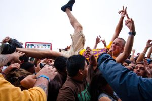 Crowd Surfer by BertLePhoto