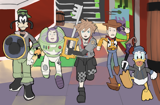 Kingdom Hearts x Toy Story: Toy Store by AlSanya