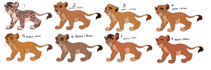 Lion King Cub Adopts 3 CLOSED by Pumpkabo0