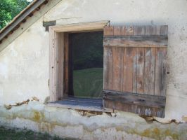 wood window in Batsto Village 2 by Stock-Tenchigirl15