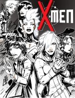 Girl Powered X-Men Line by lroyburch