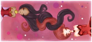 Melo and Berry long hair by G3N3