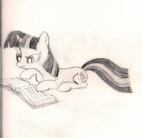 Twilight likes her books. by Emopinataj