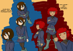 Professor Layton Fanfic - Julien and Red by CoolFireBird