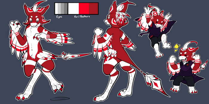 Revi Ref sheet by Puppenstein